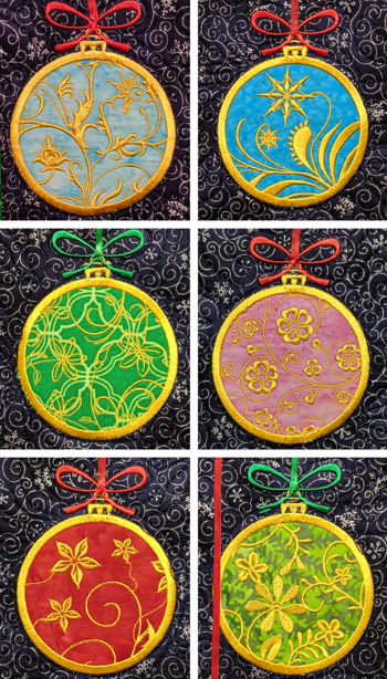 Applique Christmas Balls