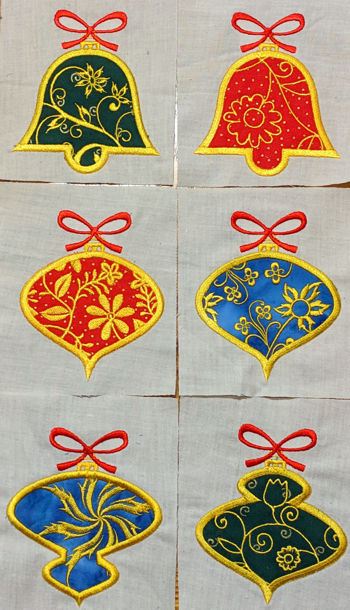 Applique Christmas Ornaments