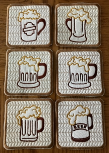 Beer Coasters In-the-Hoop (ITH)