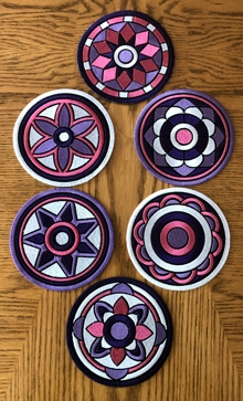 Geometric Coasters In-the-Hoop (ITH)