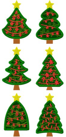 Christmas Tree Applique Set