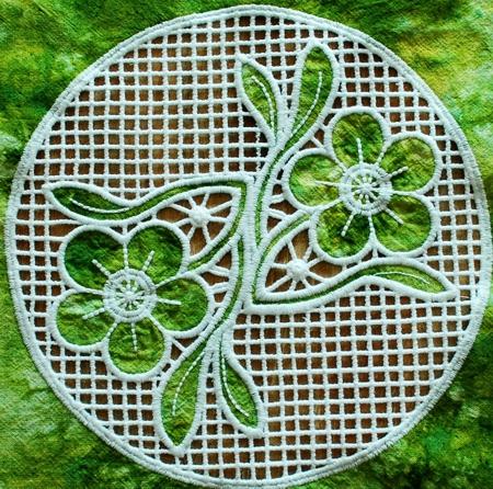 Primrose cutwork lace
