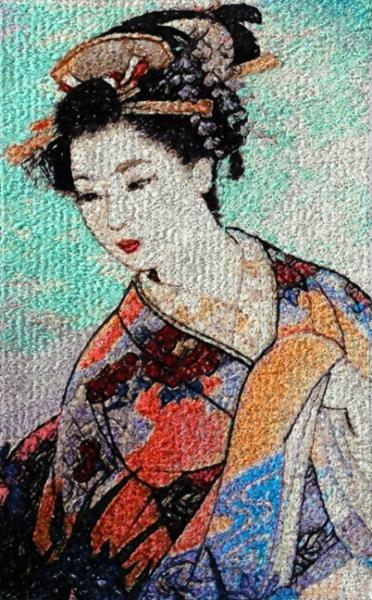 Asian Embroidery Designs - Susa Glenn Designs and ArtFabric Studio