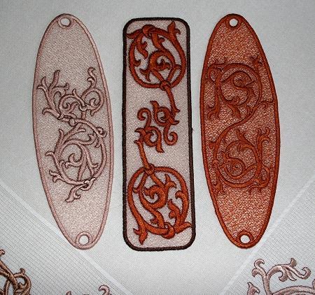 Advanced Embroidery Designs Fsl Medieval Bookmark Set