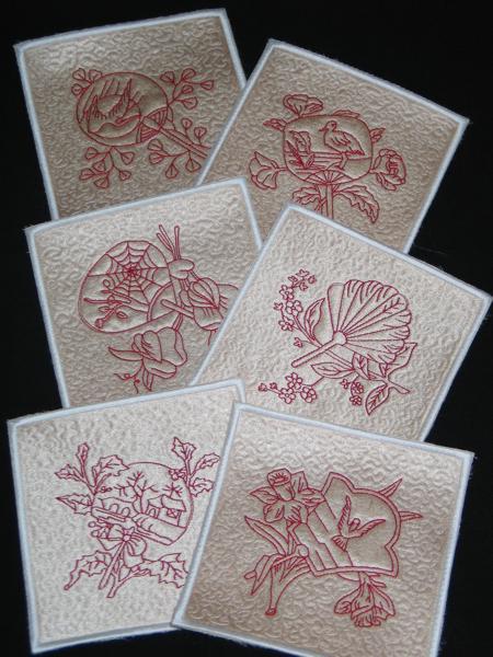 Advanced Embroidery Designs - Oriental Fan Quilt Block Set II.