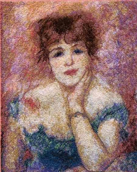 Renoir Cabin Block Art Quilt image 2
