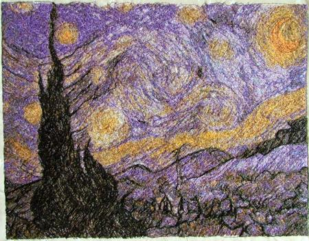 Advanced Embroidery Designs The Starry Night By Vincent