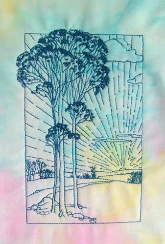 Summer Sunrise Wall Quilt image 2