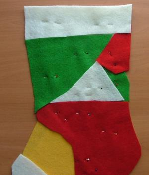 Christmas Stocking with Snowman Embroidery image 5