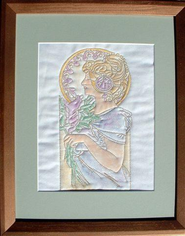 Coloring Wall Quilts with Machine Embroidery image 1
