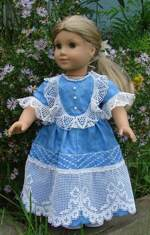Doll in a vintage-style dress