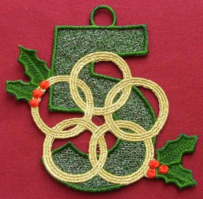 Free projects and ideas advanced embroidery designs for 5 golden rings decorations