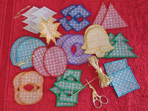 Free-Standing Lace Ornaments - Advanced Embroidery Designs