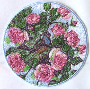 Wickerwork Plate Decorated With Embroidery Advanced Embroidery Designs