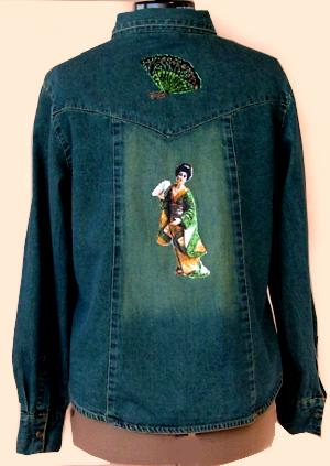 Denim Jacket Decorated With Photo Stitch Embroidery