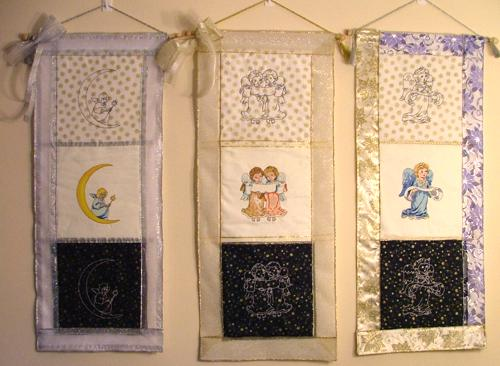 Angel Wall Hangings. Free Projects and Ideas - Advanced Embroidery ...