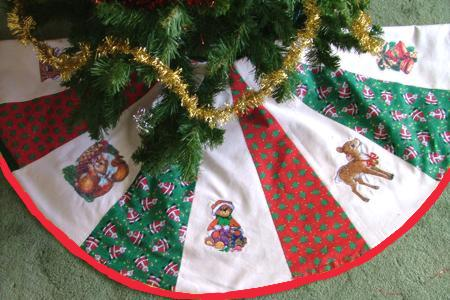 Quilted Patchwork Tree Skirt Advanced Embroidery Designs