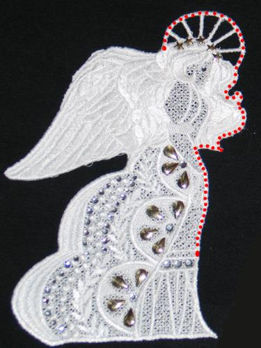 3d Free Standing Angel Advanced Embroidery Designs