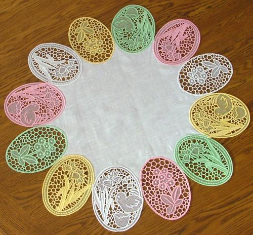 Fsl Easter Eggs Table Topper Advanced Embroidery Designs