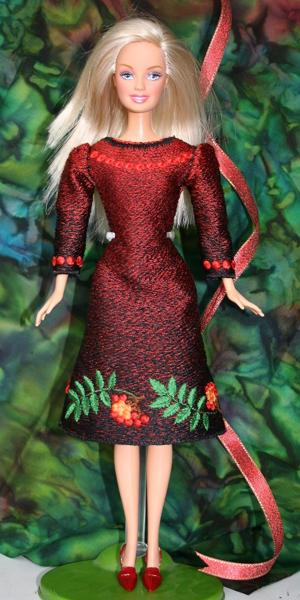 Fsl Mountain Ash Dress For 12 Quot Doll Advanced Embroidery