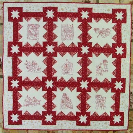 Nativity Christmas Quilt by Patchwork and Paint