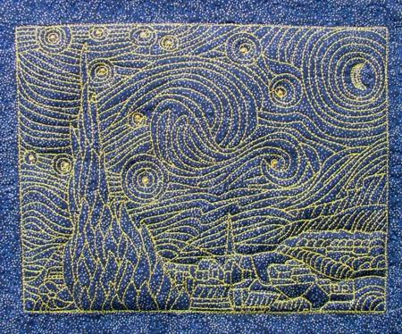 Starry Night By Vincent Van Gogh Advanced Embroidery Designs