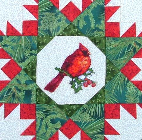 Cardinal Wall Hanging with Machine Embroidery - Advanced ... : cardinal quilt - Adamdwight.com