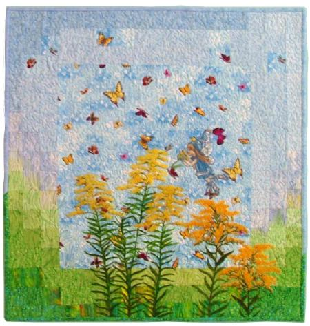 Goldenrod Fairy Quilt With Machine Embroidery Advanced