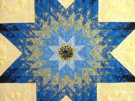 Bethlehem Star Wall Quilt With Machine Embroidery