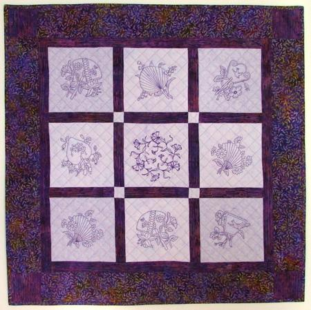 Embroidery Quilt Block Designs : Advanced Embroidery Designs - Oriental Fan Quilt Blocks