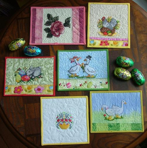 Quilted greeting cards with machine embroidery advanced