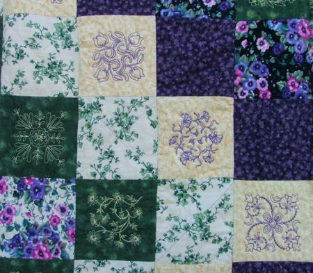 Pansy Frayed Edge Quilt Advanced Embroidery Designs