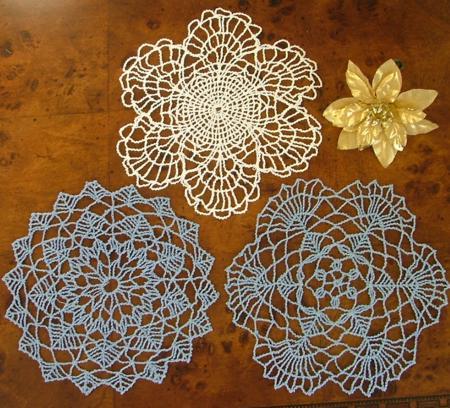 Fsl Crochet Snowflakes Doily Set Advanced Embroidery Designs