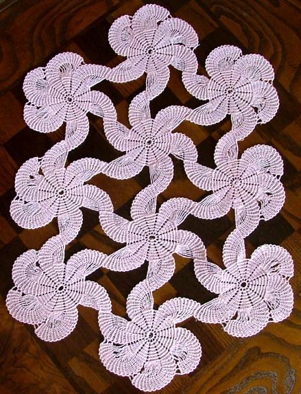 钩针桌巾:螺旋 - maomao - 我随心动