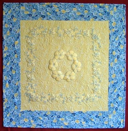 Quilting Trapunto Designs : Trapunto with Machine Embroidery - Advanced Embroidery Designs
