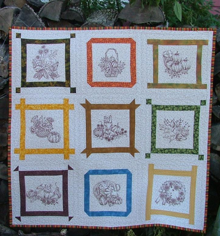 autumn wall quilt advanced embroidery designs