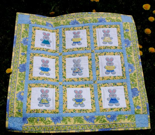 Baby Bunny Quilt With Machine Applique Advanced Embroidery Designs