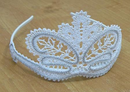 Fsl Battenberg Lace Tiara For A Girl And Her Doll