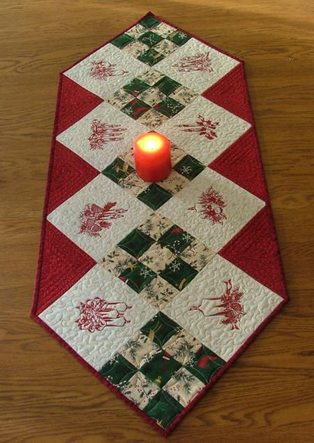 runners table Table  and Projects Ideas. holiday Christmas Runner Embroidery christmas with Redwork
