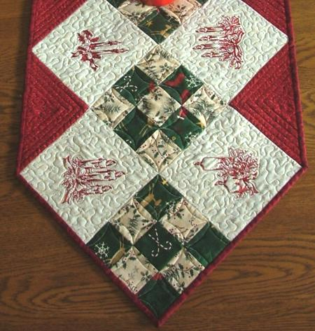 Christmas Candle Table Runner - Advanced Embroidery Designs