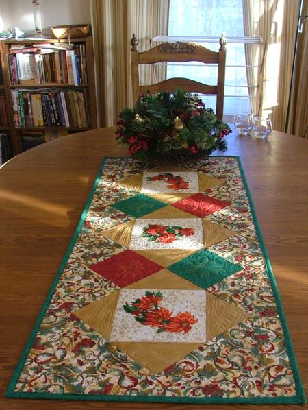 Ideas.  Runner runner Designs. designs Projects Christmas table and christmas Free  Embroidery  Table