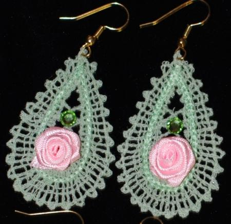 Fsl Battenberg Lace Earrings Advanced Embroidery Designs