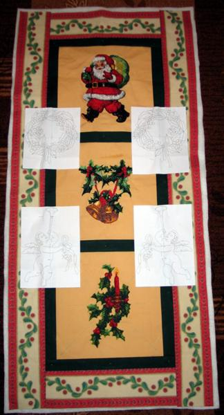 Quilted Christmas Banner Advanced Embroidery Designs
