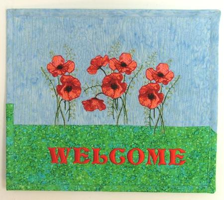 Quilted Welcome Sign Advanced Embroidery Designs