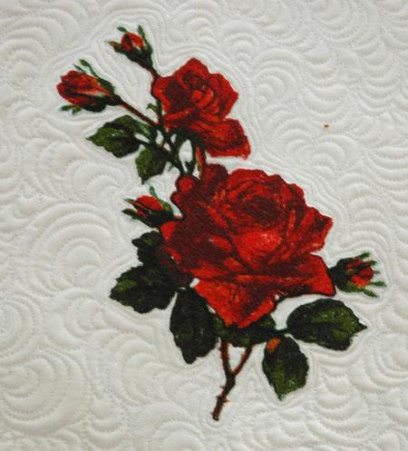 Quilted Tabletopper With Rose Embroidery Advanced