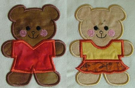 Large crochet teddy bear appliques colors ea afghan