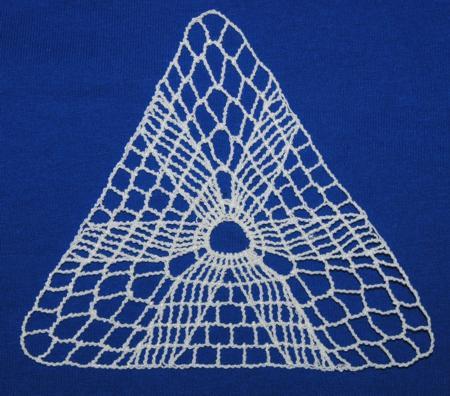 Triangle Motif Cuff - Crochet Me