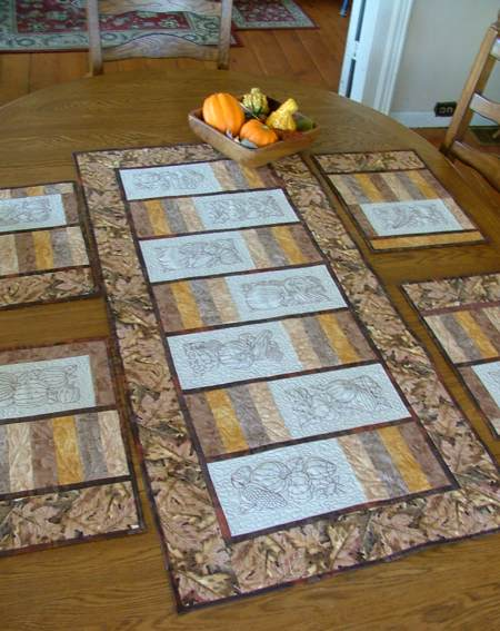 Autumn-Themed Table Set. Part II: Table Runner - Advanced ... : quilted table runners and placemats patterns - Adamdwight.com