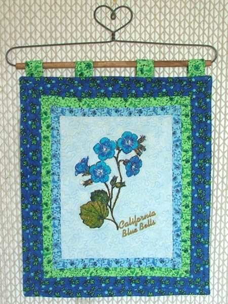Flower Hangings California Blue Bells Advanced Embroidery Designs