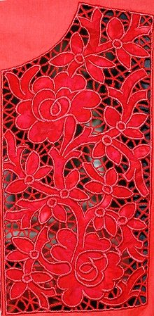 Cutwork Applique Lace Yoke Advanced Embroidery Designs
